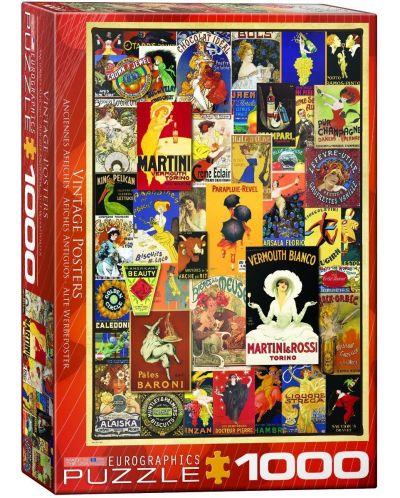 Puzzle Eurographics de 1000 piese – Postere retro - 1