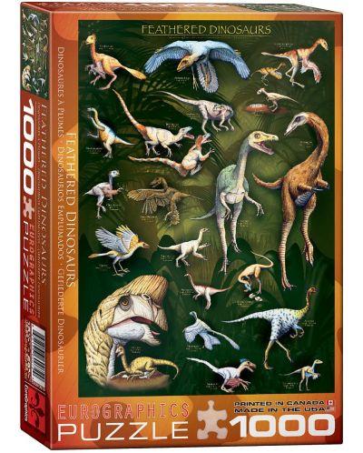 Puzzle Eurographics de 1000 piese – Dinozauri cu pene - 1