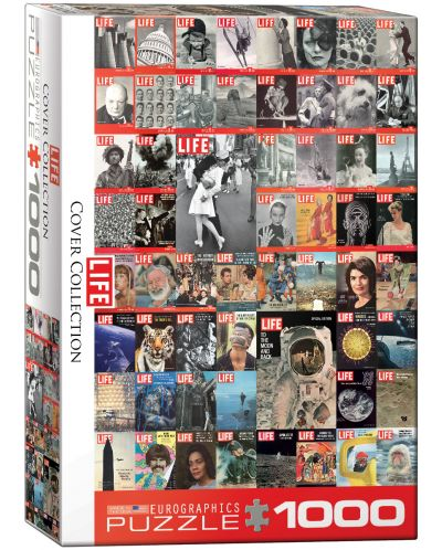 Puzzle Eurographics de 1000 piese – Colaj retro pe copertile revistei LIFE - 1