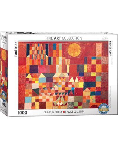Puzzle Eurographics de 1000 piese – Castel si Soare, Paul Klee - 1
