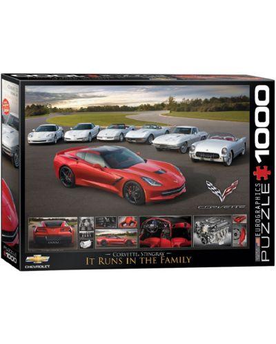 Puzzle Eurographics de 1000 piese – Corvette Stingray - 1