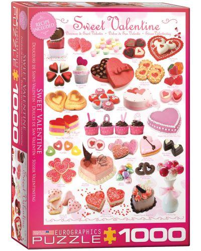 Puzzle Eurographics de 1000 piese – Dulciuri pentru Sfant Valentin - 1