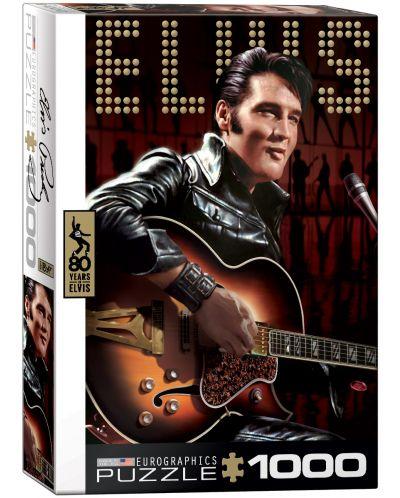 Puzzle Eurographics de 1000 piese – Portretul lui Elvis Presley - 1