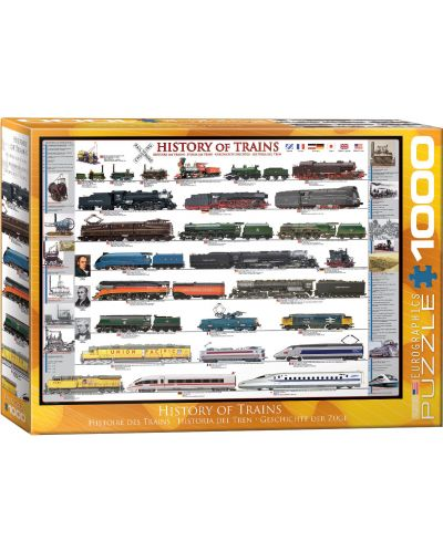Puzzle Eurographics de 1000 piese – Istoria si dezvoltarea trenurilor - 1