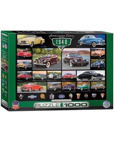 Puzzle Eurographics de 1000 piese – Autoturisme clasice din anul 1940 - 1