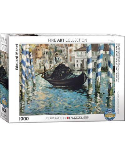 Puzzle Eurographics de 1000 piese – Canal Grande, Eduar Manet - 1