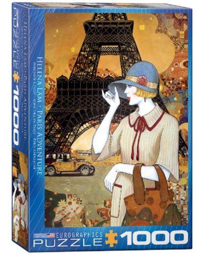 Puzzle Eurographics de 1000 piese – Aventura in Paris, Helena Lahm - 1