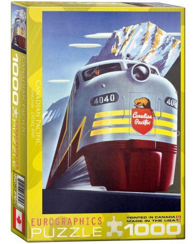 Puzzle Eurographics de 1000 piese – Canadian Pacific, Locomotiva diesel  - 1