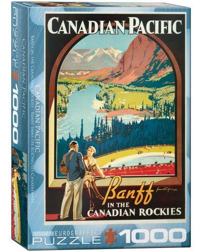 Puzzle Eurographics de 1000 piese – Canadian Pacific, Banff, Muntii stancosi - 1