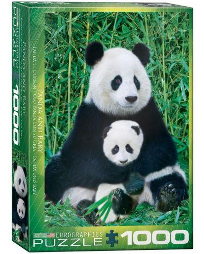 Puzzle Eurographics de 1000 piese – Panda si micutul ? - 1