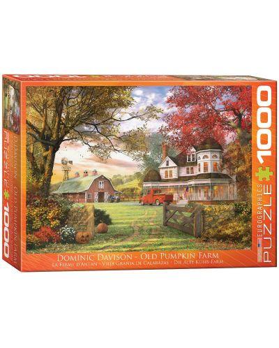 Puzzle Eurographics de 1000 piese – Vechea  ferma de dovleci, Dominic Davison - 1