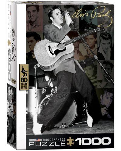 Puzzle Eurographics de 1000 piese – Colaj cu pozele lui Elvis Presley - 1