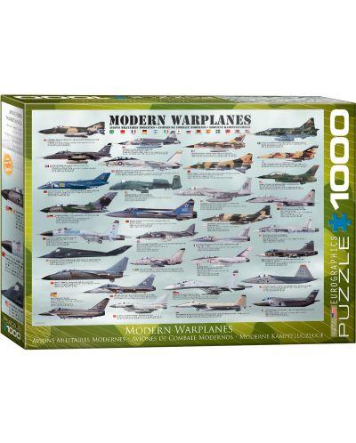 Puzzle Eurographics de 1000 piese – Avioane militare moderne - 1
