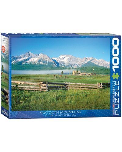 Puzzle Eurographics de 1000 piese – Muntii Sawtooth in Idaho - 1