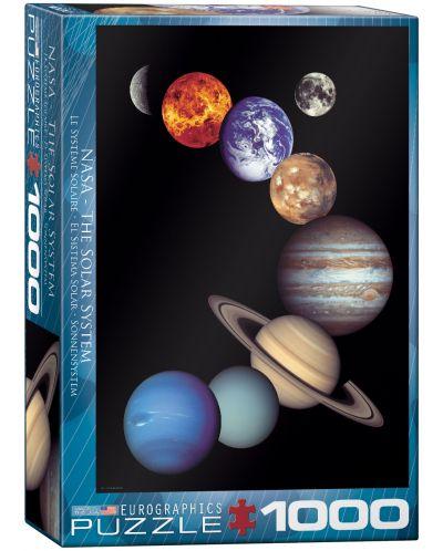 Puzzle Eurographics de 1000 piese – NASA – Sistemul solar - 1