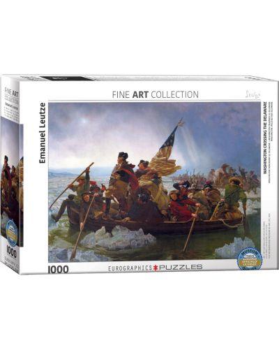 Puzzle Eurographics de 1000 piese – Washington traverseaza Delaware, Emanuel Leutze - 1