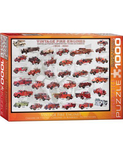 Puzzle Eurographics de 1000 piese – Camioane de pompieri antice - 1