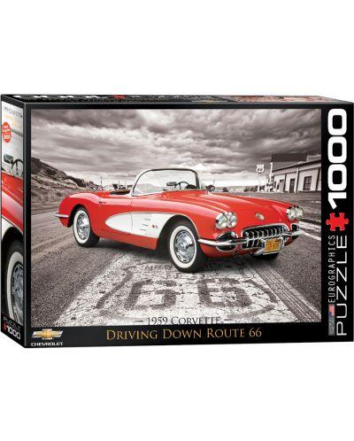 Puzzle Eurographics de 1000 piese – Autoturisme clasice Chevrolet din anul 1959 - 1