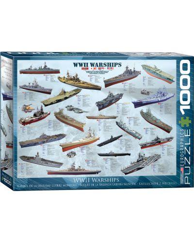 Puzzle Eurographics de 1000 piese – Nave militare din Al doilea razboi mondial - 1