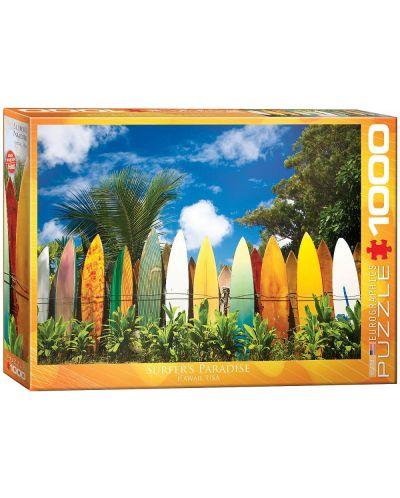 Puzzle Eurographics de 1000 piese – Paradisul surferilor, Hawai - 1