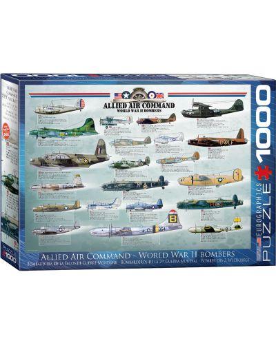 Puzzle Eurographics de 1000 piese – Bombardiere aliate din  Al dolea razboi mondiaal - 1