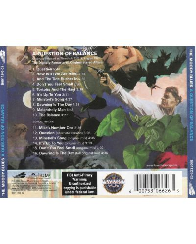 The Moody Blues - A Question Of Balance (CD) - 2