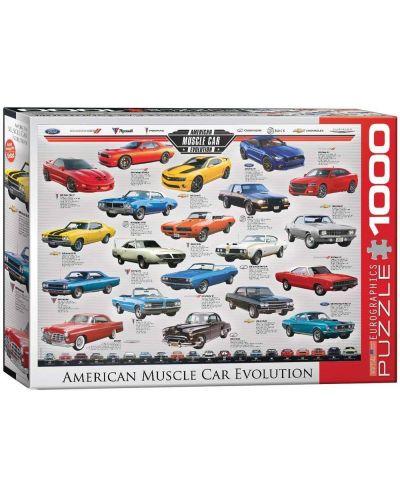 Puzzle Eurographics de 1000 piese – Dezvoltarea autoturismelor puternice din America - 1