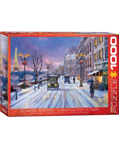 Puzzle Eurographics de 1000 piese – Seara de Craciun in Paris, Dominic Davison - 1