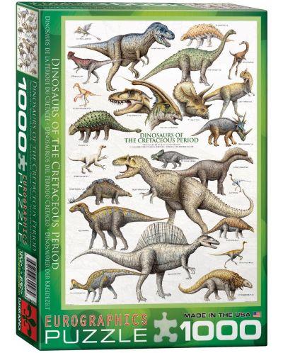 Puzzle Eurographics de 1000 piese – Dinozauri- perioada cretacică - 1