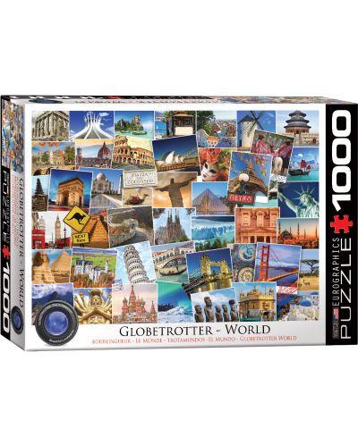Puzzle Eurographics de 1000 piese – Colectia Globetrotter: lumea - 1
