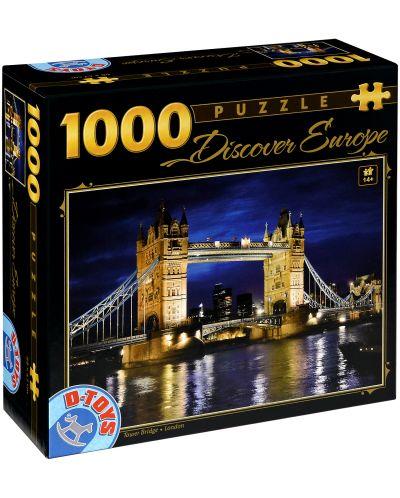 Puzzle D-Toys de 1000 piese - Tower Bridge, Londra - 1