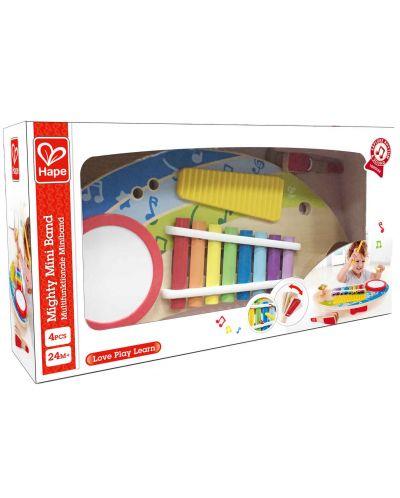 Masa muzicala pentru copii Hape - 5 instrumente muzicale, din lemn - 7