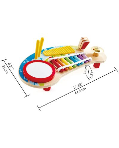 Masa muzicala pentru copii Hape - 5 instrumente muzicale, din lemn - 6
