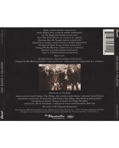 The Band - Islands - (CD) - 2