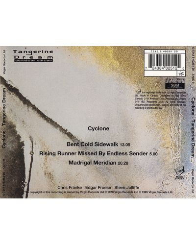 Tangerine Dream - Cyclone - (CD) - 2