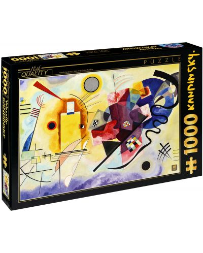Puzzle D-Toys de 1000 piese – Galben-Rosu-Albastru, Vasili Kandinsky - 1