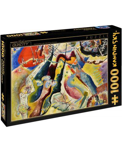 Puzzle D-Toys de 1000 piese – Tablou cu pata rosie, Vasily Kandinsky - 1