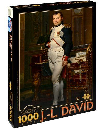 Puzzle D-Toys de 1000 piese - Imparatul Napoleon in biroul sau in Tuileries, Jacques-Louis David - 1