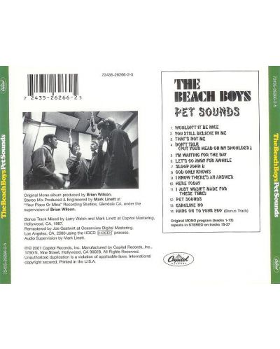 The BEACH BOYS - Pet Sounds - (CD) - 2