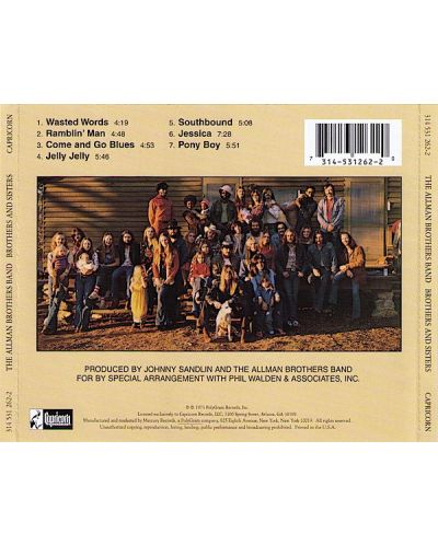 The Allman Brothers Band - Brothers and Sisters - (CD) - 2
