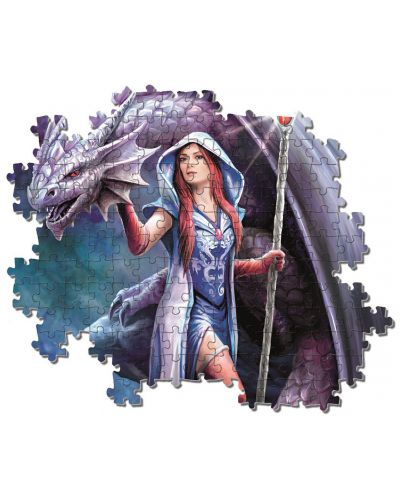 Puzzle Clementoni de 1000 piese - Anne Stokes Collection, Dragon Mage - 3