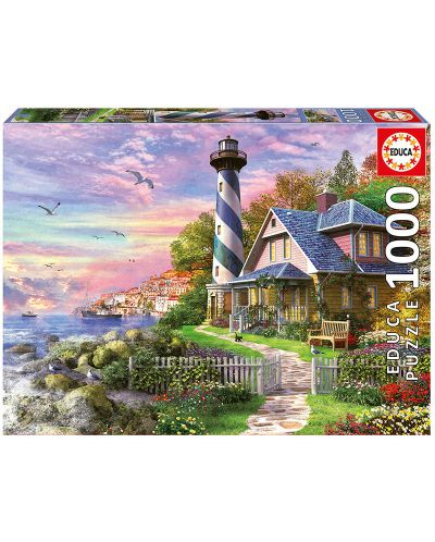 Puzzle Educa de 1000 piese - Lighthouse at Rock Bay - 1