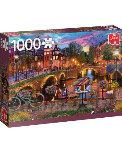 Puzzle Jumbo de 1000 piese - Amsterdam Canals - 1