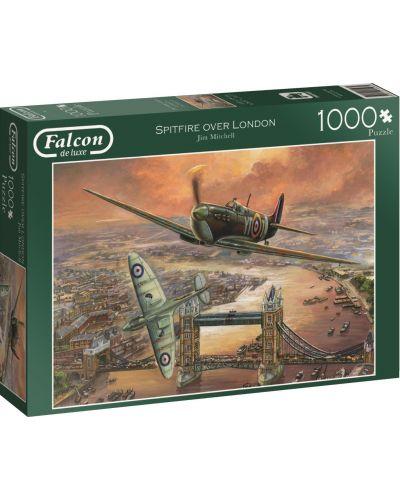 Puzzle Jumbo de 1000 piese - Avioane de vanatoare peste Londra, Jim Mitchell - 1