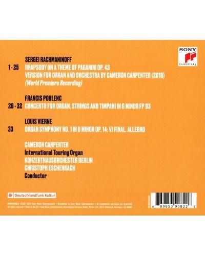 Cameron Carpenter - Rachmaninoff: Rhapsody on A Theme of Paganini & Poulenc: Organ Concerto (CD) - 2