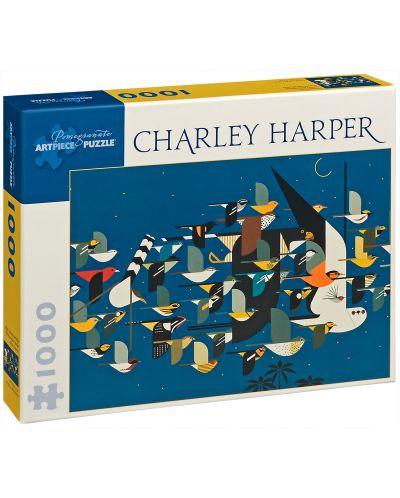 Puzzle Pomegranate de 1000 piese - Misterul migrantilor disparuti, Charley Harper - 1