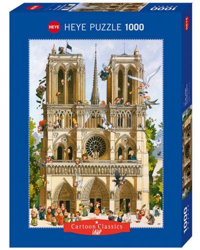 Puzzle Heye de 1000 piese - Sa traiasca Notre Dame!, Jean-Jaques Loup - 1