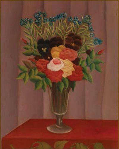 Puzzle Pomegranate de 100 piese - Buchet de flori, Henri Rousseau - 2