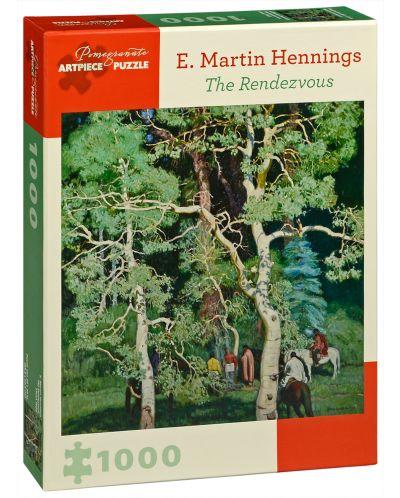 Puzzle Pomegranate de 1000 piese - Intalnirea, Martin Hennings - 1