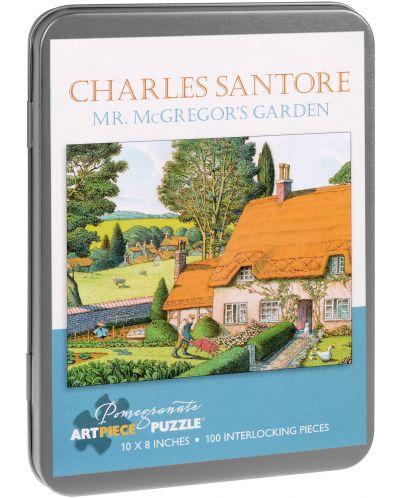 Puzzle Pomegranate de 100 piese - Gradina domnului McGregor, Charles Santore - 1